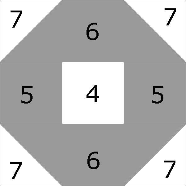 Santa Fe quilt block - O units