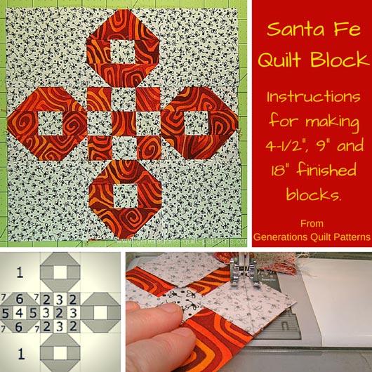 Santa Fe quilt block tutorial