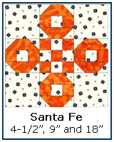 Santa Fe quilt block instructions