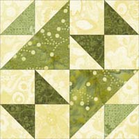 School Girl's Puzzle quilt block