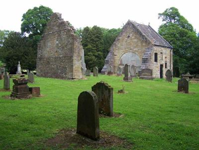Loudoun Kirk - remains of the church and churchyard