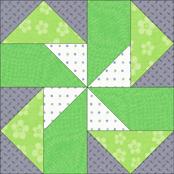 Seesaw quilt block design