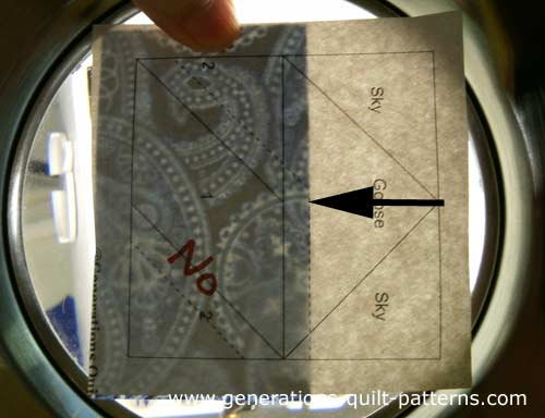 Position Patch #1 using the placement lines