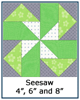 Seesaw quilt block lesson