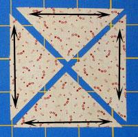 Cut side setting triangles