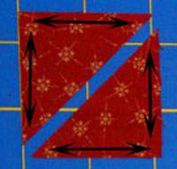 Cut corner setting triangles