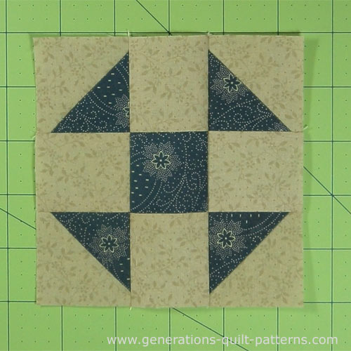 The finished Shoofly quilt block