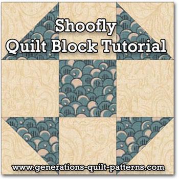 Shoofly Quilt Block Tutorial In 5 Sizes