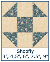 Shoofly quilt block lesson