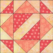 Hour Glass Quilt Block: Illustrated Step-by-Step Instructins in 3 Sizes