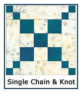 Single Chain and Knot quilt pattern design ideas