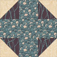 Snowball quilt block design