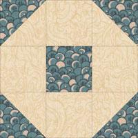 Snowball quilt block variation