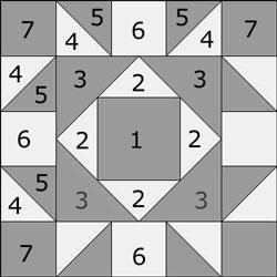 Snowflake quilt block design