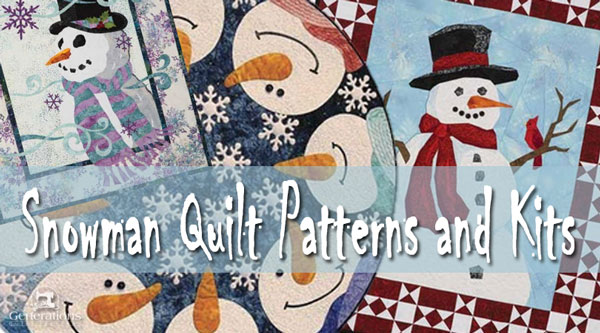 Snowman quilt patterns and kits to make