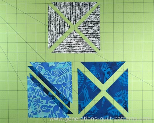 Patches cut for the Southern Belle quilt block