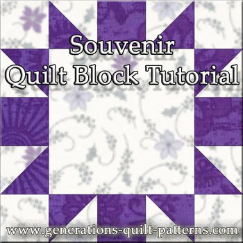 The Souvenir quilt block tutorial begins here...
