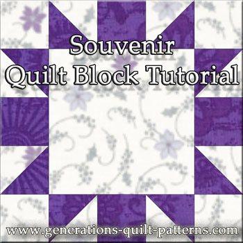 The Souvenir quilt block tutorial begins here...