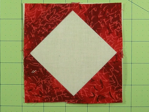 The finished square in a square quilt block