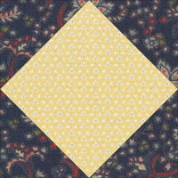 Square in a Square quilt block aka Shoofly