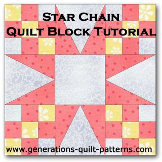 Star chain quilt block tutorial