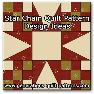 Star Chain quilt pattern ideas