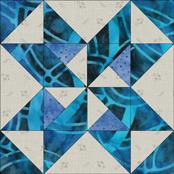 Star and Pinwheels quilt block