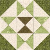 Star X quilt block