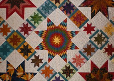 Center Lone Star Block - closeup<br /><br />(Click on a thumbnail image below for a larger picture.)<br /><br />