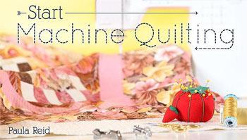 Start Machine Quilting class with Paul Reid