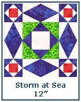 Storm at Sea quilt block