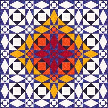 Storm at Sea quilt pattern - diamond variation