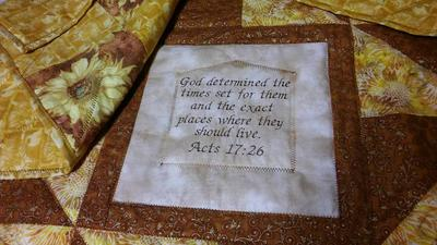 Sunflower House Blessing Quilt