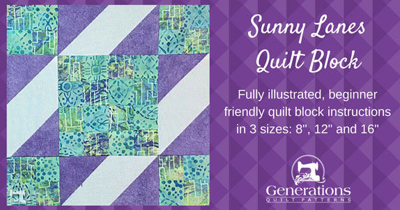 The Sunny Lanes quilt block tutorial starts here
