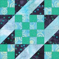 Sunny Lanes quilt block design