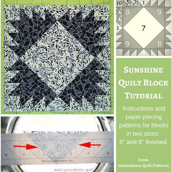 Sunshine quilt block tutorial