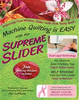 Position the slider over the needle hole of your machine