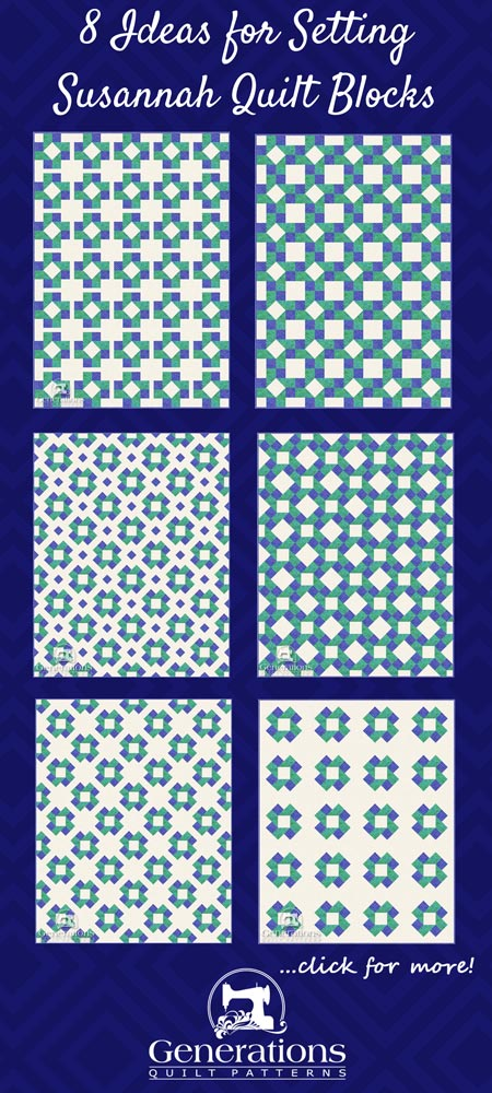 Options for Susannah quilt designs