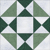 Swamp Angel quilt block