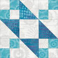 Tail of Benjamin's Kite quilt block design