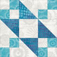 Tail of Benjamin's Kite quilt block design