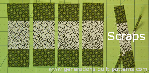 Subcut the #5/#4/#5 stripset into units