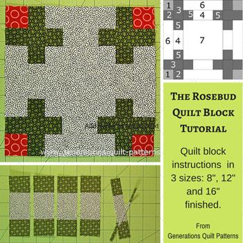 The Rosebud quilt block tutorial