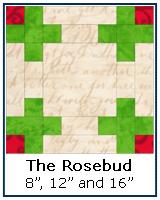 Click here for the Rosebud quilt block tutorial