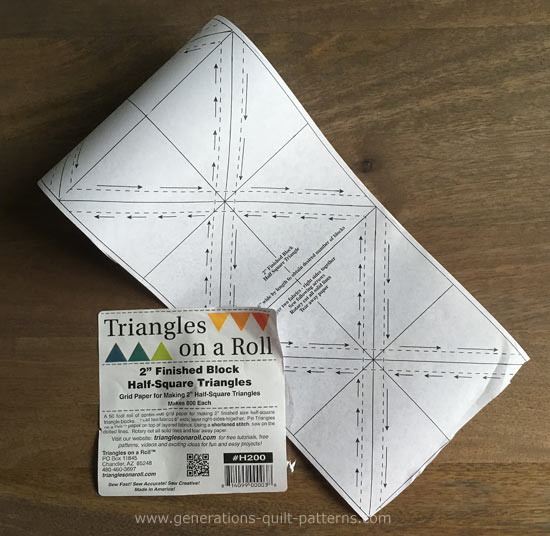 Triangles on a Roll out of the package