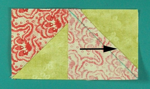 Trim the second seam allowance to a quarter inch