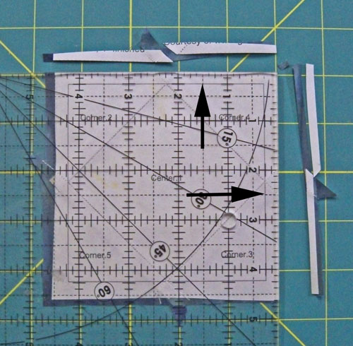 Trim the quilt block to size