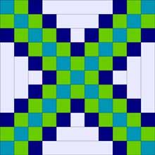 Triple Irish Chain Expanded Quilt Block 1
