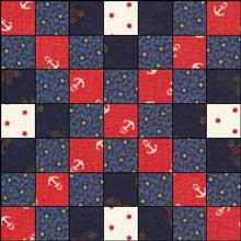 Triple Irish Chain Quilt Block 1