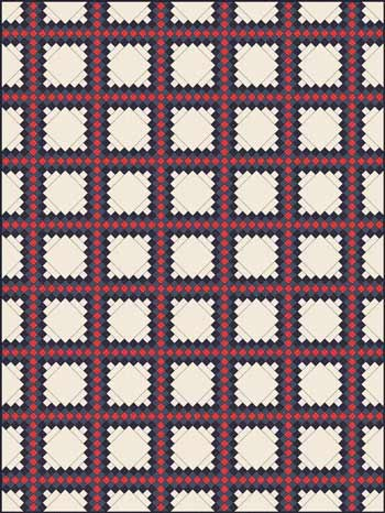 Triple Irish Chain Quilt - diagonal set